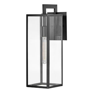 Max Black 19-Inch One-Light Outdoor Wall Mount