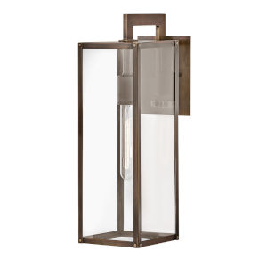 Max Burnished Bronze One-Light 19-Inch Outdoor Wall Mount