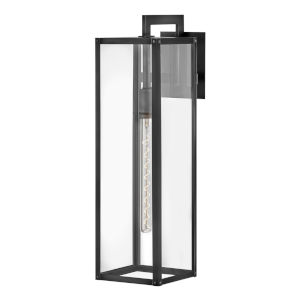 Max Black One-Light 7-Inch Outdoor Wall Mount