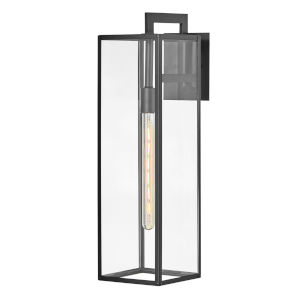 Max Black 25-Inch One-Light Outdoor Wall Mount