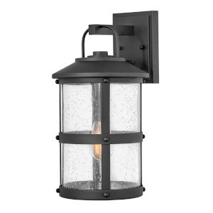 Lakehouse Black 17-Inch One-Light Outdoor Wall Mount