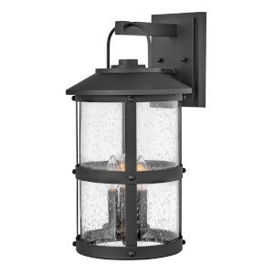 Lakehouse Black Three-Light Outdoor Wall Mount