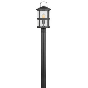Lakehouse Black One-Light Outdoor Post Mount