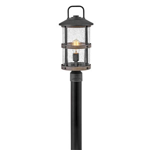 Lakehouse Aged Zinc LED Outdoor Post Mount
