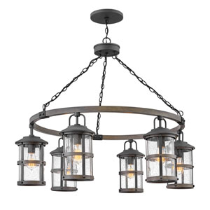 Lakehouse Aged Zinc Six-Light Outdoor Chandelier