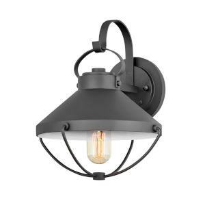 Crew Black 10-Inch One-Light Outdoor Wall Mount