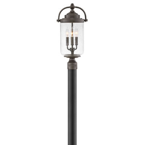Willoughby Oil Rubbed Bronze Three-Light Post Mount