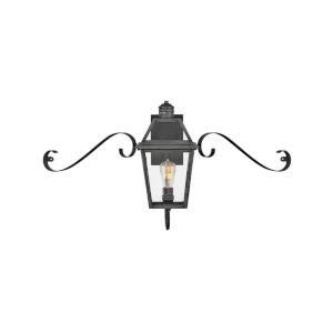 Nouvelle Blackened Brass One-Light Outdoor Wall Mount