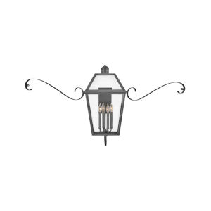 Nouvelle Blackened Brass Four-Light Outdoor Wall Mount
