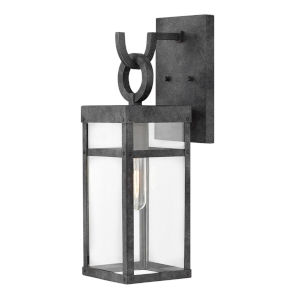 Porter Aged Zinc One-Light 19-Inch Outdoor Wall Mount