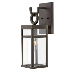 Porter Oil Rubbed Bronze 19-Inch One-Light Outdoor Wall Sconce