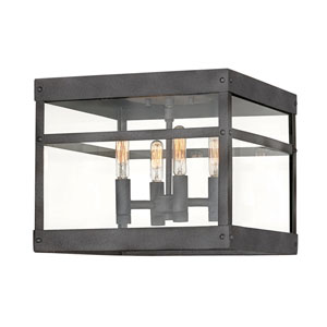 Porter Aged Zinc Four-Light Outdoor Pendant