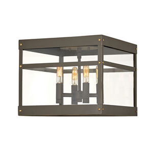 Porter Oil Rubbed Bronze Four-Light Outdoor Pendant