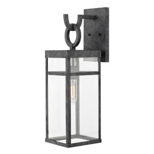 Porter Aged Zinc One-Light 7-Inch Outdoor Wall Mount