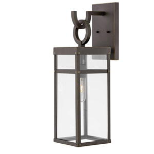 Porter Oil Rubbed Bronze 22-Inch One-Light Outdoor Wall Sconce