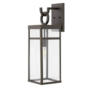 Porter Oil Rubbed Bronze 25-Inch One-Light Outdoor Wall Sconce