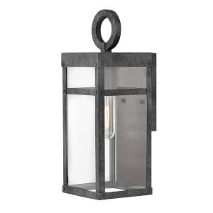 Porter Aged Zinc One-Light 13-Inch Outdoor Wall Mount