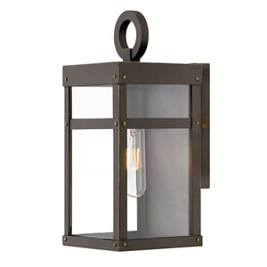 Porter Oil Rubbed Bronze13-Inch One-Light Outdoor Wall Sconce