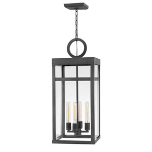 Porter Aged Zinc One-Light Outdoor Pendant