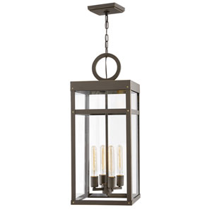 Porter Oil Rubbed Bronze 12-Inch One-Light Outdoor Pendant