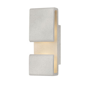 Contour Cement Gray Five-Inch LED Wall Mount