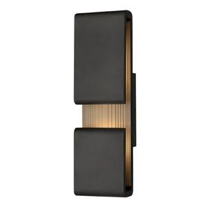 Contour Black Six-Inch LED Wall Mount