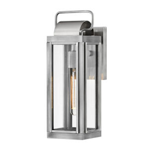 Sag harbor Antique Brushed Aluminum One-Light 16-Inch Outdoor Wall Mount