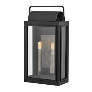 Sag Harbor Black  Two-Light Outdoor Wall Mount