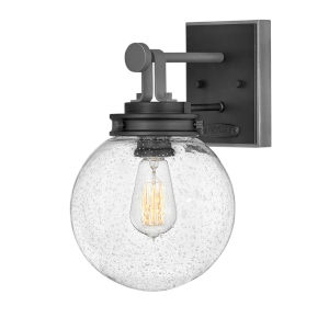 Jameson Black 8-Inch One-Light Outdoor Wall Mount