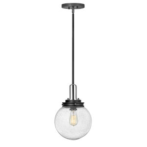 Jameson Black One-Light Outdoor Pendant