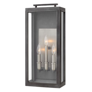 Sutcliffe Aged Zinc Three-Light Outdoor Wall Mount