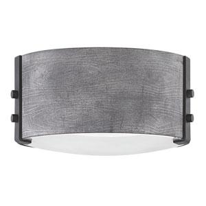 Sawyer Aged Zinc Two-Light LED Outdoor Flush Mount