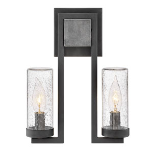Sawyer Aged Zinc One-Light Outdoor Wall Sconce