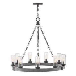 Sawyer Aged Zinc Five-Light Outdoor Chandelier