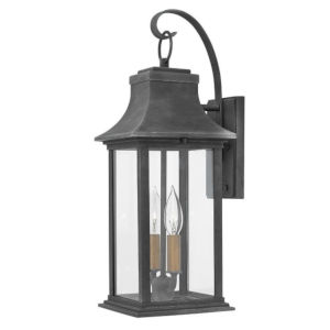 Adair Aged Zinc Seven-Inch Two-Light Led Outdoor Wall Mount