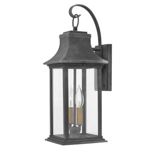 Adair Aged Zinc Two-Light Outdoor Wall Mount