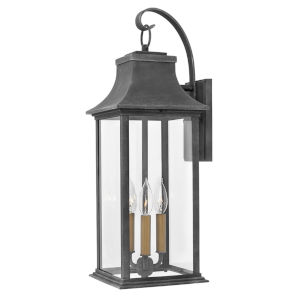 Adair Aged Zinc Three-Light Outdoor Wall Mount