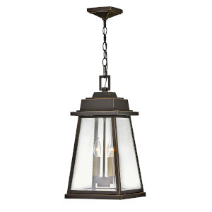 Bainbridge Oil Rubbed Bronze Two-Light Outdoor Pendant