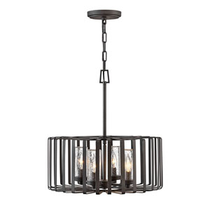 Reid Brushed Graphite Four-Light LED Outdoor Pendant