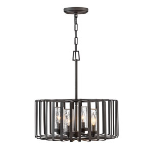Reid Brushed Graphite Four-Light Outdoor Pendant