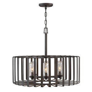 Reid Brushed Graphite Six-Light LED Outdoor Pendant