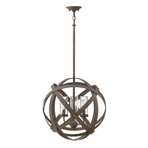 Carson Vintage Iron Three-Light LED Outdoor Pendant