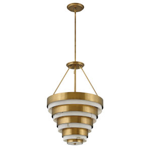 Echelon Heritage Brass Eight-Light Chandelier