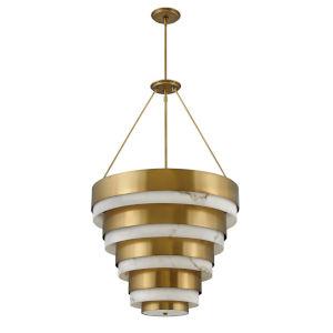 Echelon Heritage Brass Four-Light Chandelier