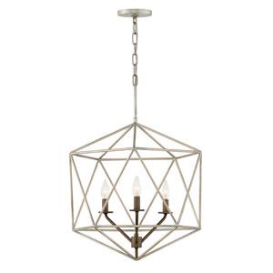 Astrid Metallic Matte Bronze Three-Light Chandelier