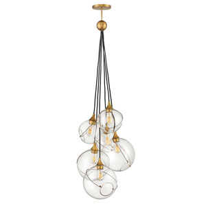 Skye Heritage Brass Six-Light Chandelier