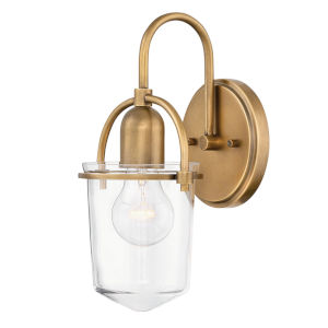Clancy Lacquered Brass One-Light Wall Sconce