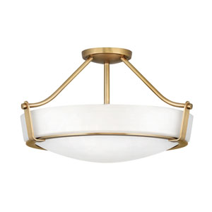Hathaway Heritage Brass Four-Light Semi-Flush Mount