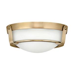 Hathaway Heritage Brass Two-Light Flush Mount