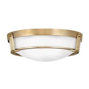 Hathaway Heritage Brass Three-Light Flush Mount